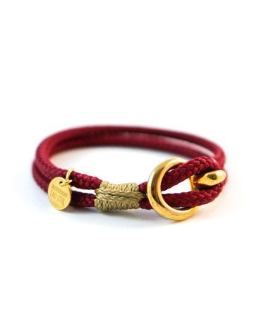 Vergoldetes zweifarbiges Armband mit Ösenverschluss