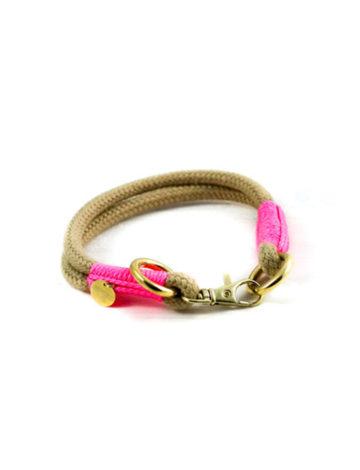 Halsband mit kleinem Chromkarabiner für Minis (bis max. 2kg)