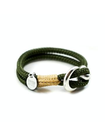 Versilbertes zweifarbiges Armband mit Ösenverschluss