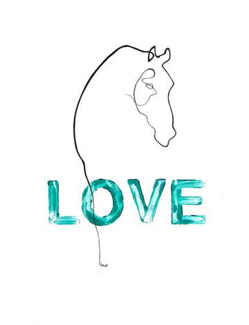 Zeichnung Pferd Tusche DINA3